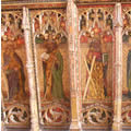 Defaced Apostles on Rood Screen
