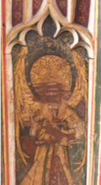 Defaced angel on St Edmund's Rood Screen