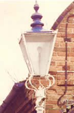 Original Gas lamp standard by Child's foundry