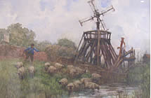 Painting 'The Old Salt Mill' by J.R.K. Duff