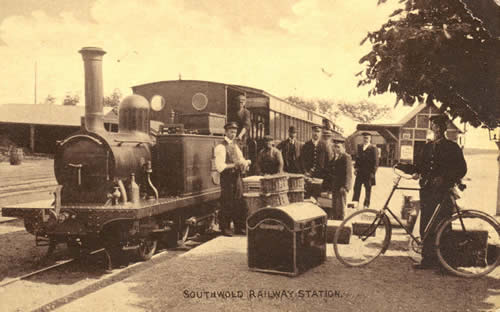 Southwold Station in about 1905