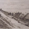 East Cliff, Etching by Arthur Evershed